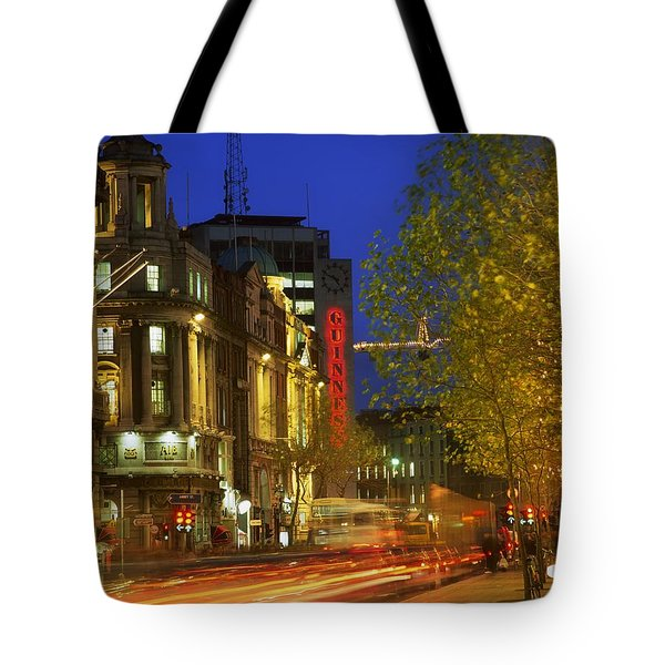 Oconnell Street Bridge, Dublin, Co Tote Bag by The Irish Image Collection