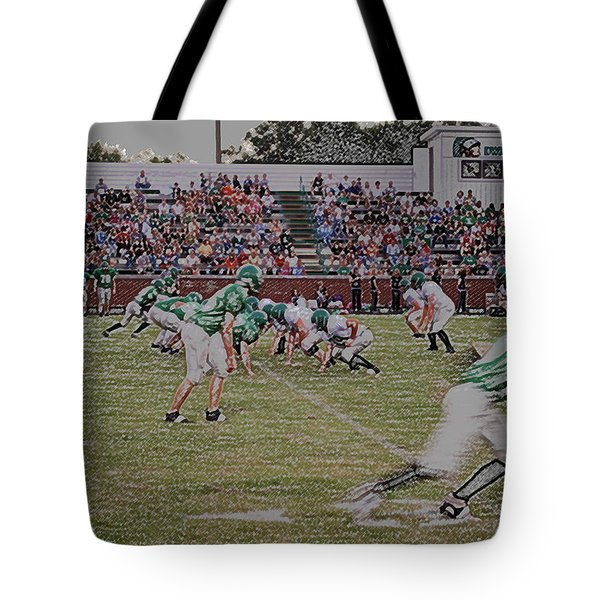 Off Sides Digital Art Tote Bag by Thomas Woolworth