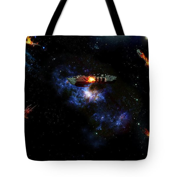 Off The Shoulder Of Orion Tote Bag by Joseph Soiza
