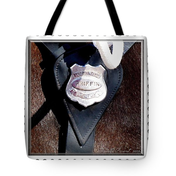 Officer Griffin Tote Bag by Danielle  Parent