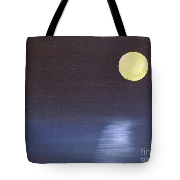 Offset Moon Tote Bag by Alys Caviness-Gober