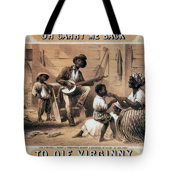 Oh Carry Me Back To Ole Virginny, 1859 Tote Bag by Photo Researchers