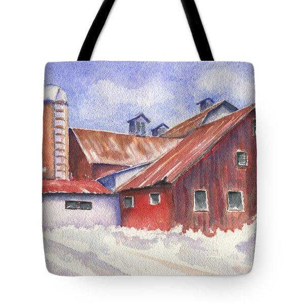 Ohio Barn Tote Bag by Marsha Elliott