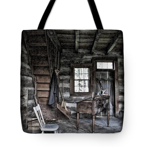 Ohio Cabin Tote Bag by Joan  Minchak