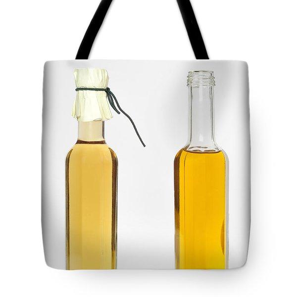 Oil And Vinegar Bottles Tote Bag by Matthias Hauser