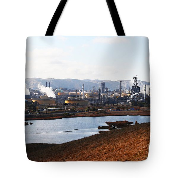 Oil Refinery Industrial Plant In Martinez California . 7d10393 Tote Bag by Wingsdomain Art and Photography