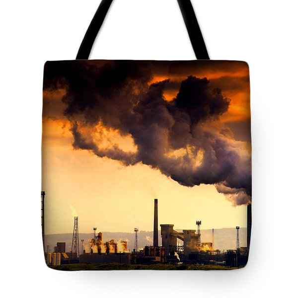 Oil Refinery Tote Bag by John Short