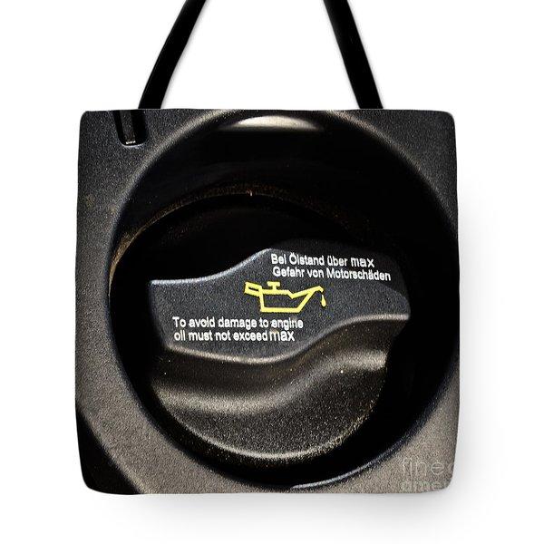 Oil Valve Cap Tote Bag by Photo Researchers