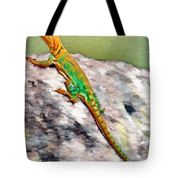 Oklahoma Collared Lizard Tote Bag by Jeff Kolker