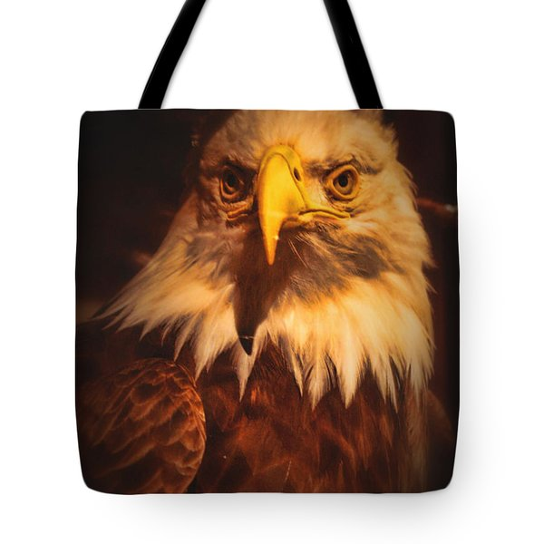 Old Abe Profile Tote Bag by Tommy Anderson