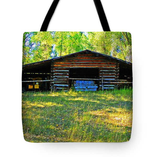 Old Barn With Wings Tote Bag by Lenore Senior and Dawn Senior-Trask