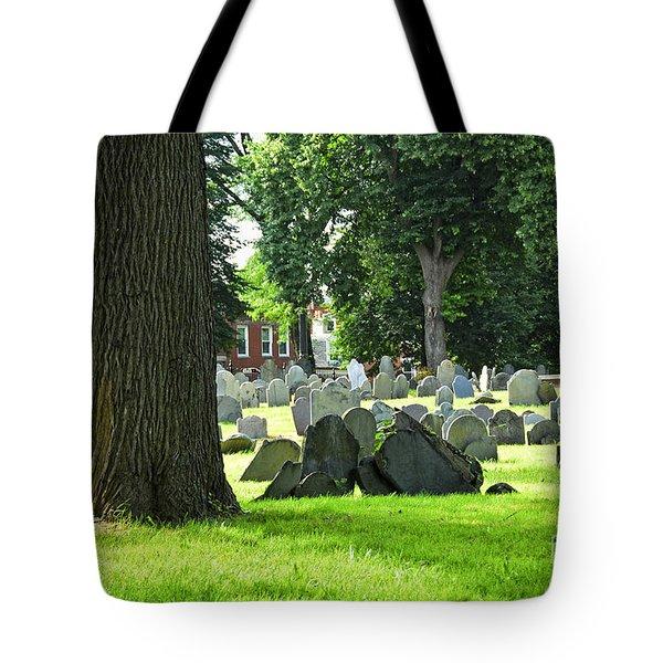 Old cemetery in Boston Tote Bag by Elena Elisseeva