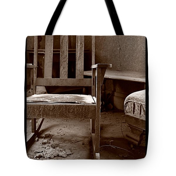 Old Chair Bodie California Tote Bag by Steve Gadomski