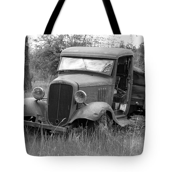 Old Chevy Truck Tote Bag by Steve McKinzie