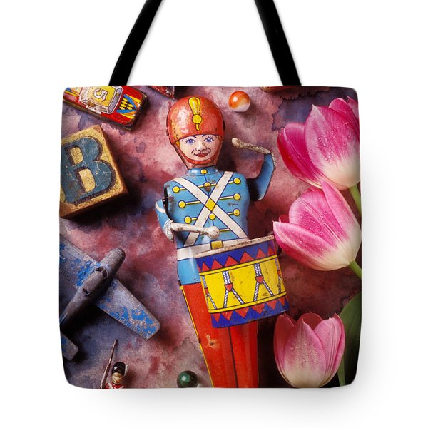 Old Childrens Toys Tote Bag by Garry Gay