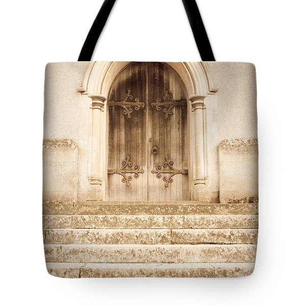 Old Church Door Tote Bag by Tom Gowanlock