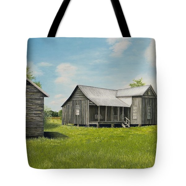 Old Clark Home Tote Bag by Mary Ann King