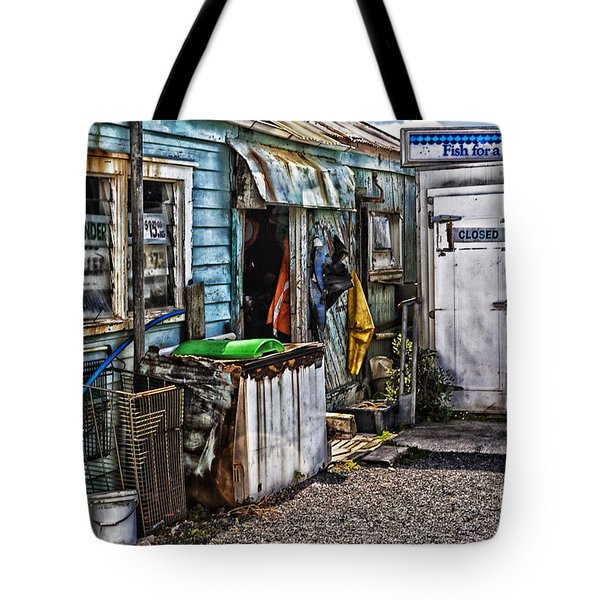 Old Fishing Store At Rawehe Tote Bag by Avalon Fine Art Photography