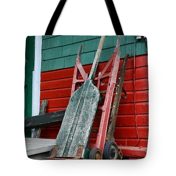 Old Hand Trucks Tote Bag by Paul Ward