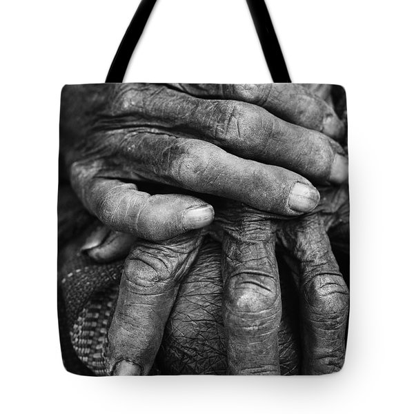 Old Hands 3 Tote Bag by Skip Nall