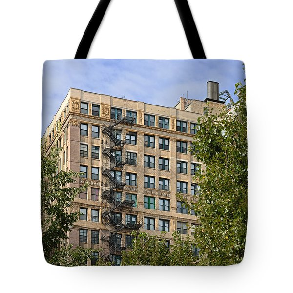 Old iron fire escape Chicago IL Tote Bag by Christine Till
