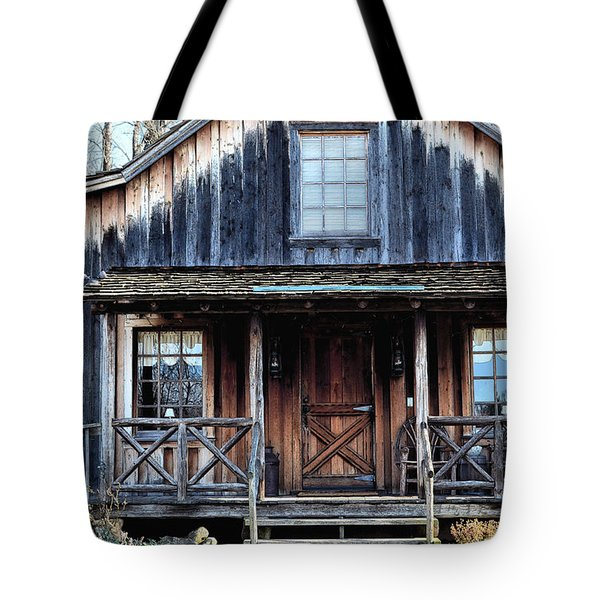 Old Log House2 Tote Bag by Sandi OReilly