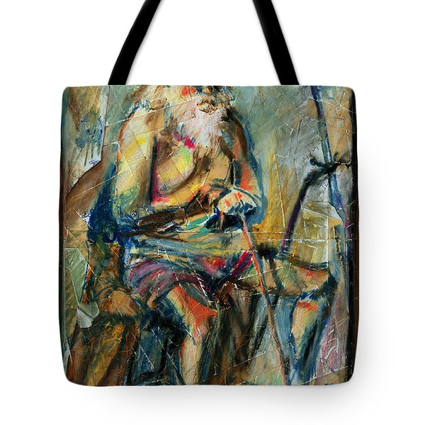 Old Man In The Chair Tote Bag by David Finley