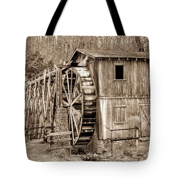 Old Mill In Sepia Tote Bag by Douglas Barnett