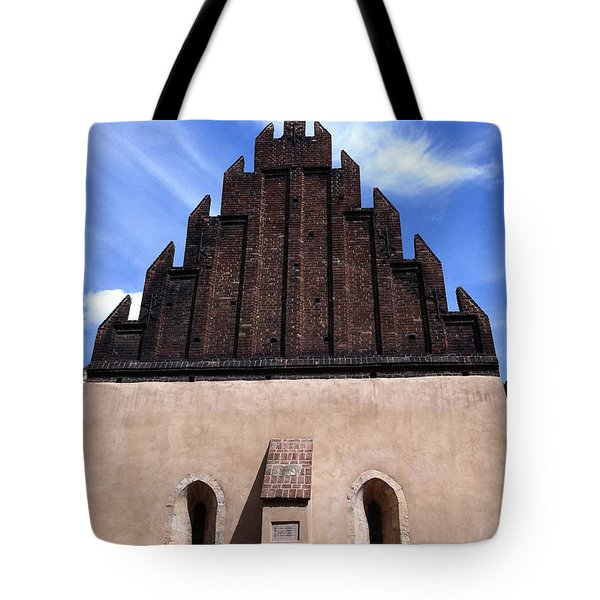 Old New Synagogue Tote Bag by Linda Woods