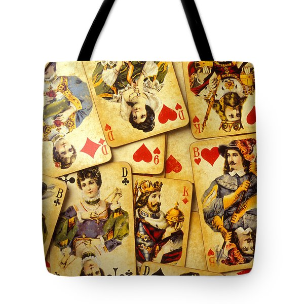 Old Playing Cards Tote Bag by Garry Gay