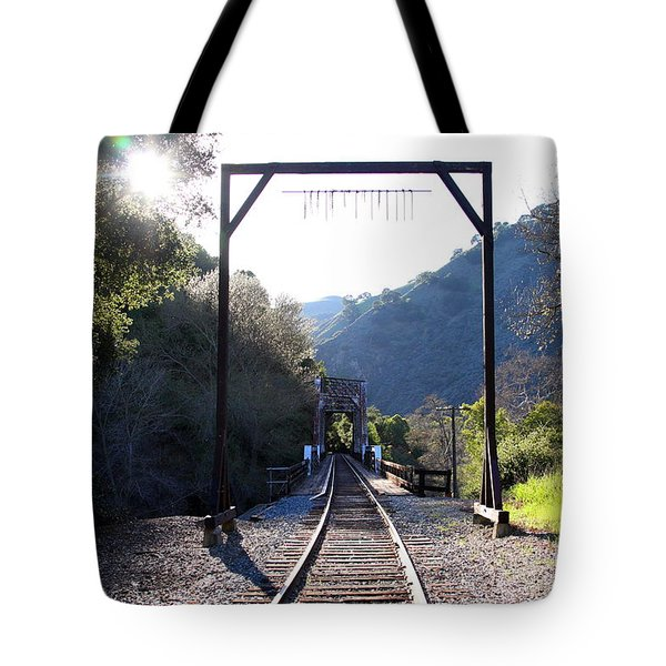 Old Railroad Bridge At Near Historic Niles District In California . 7d12747 Tote Bag by Wingsdomain Art and Photography