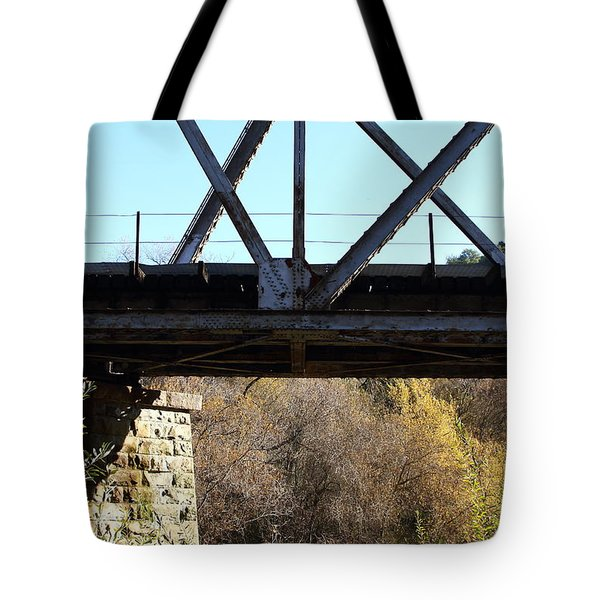 Old Railroad Bridge At Union City Limits Near Historic Niles District In California . 7d10743 Tote Bag by Wingsdomain Art and Photography