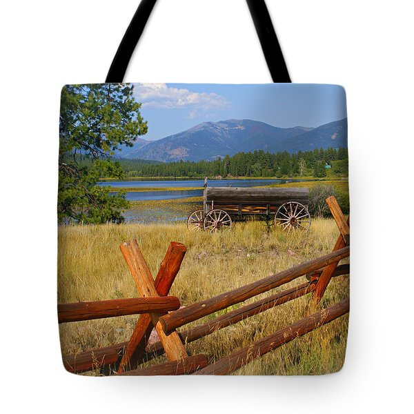 Old Ranch Wagon Tote Bag by Marty Koch