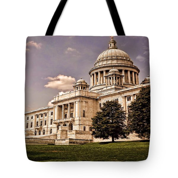 Old Rhode Island State House Tote Bag by Lourry Legarde