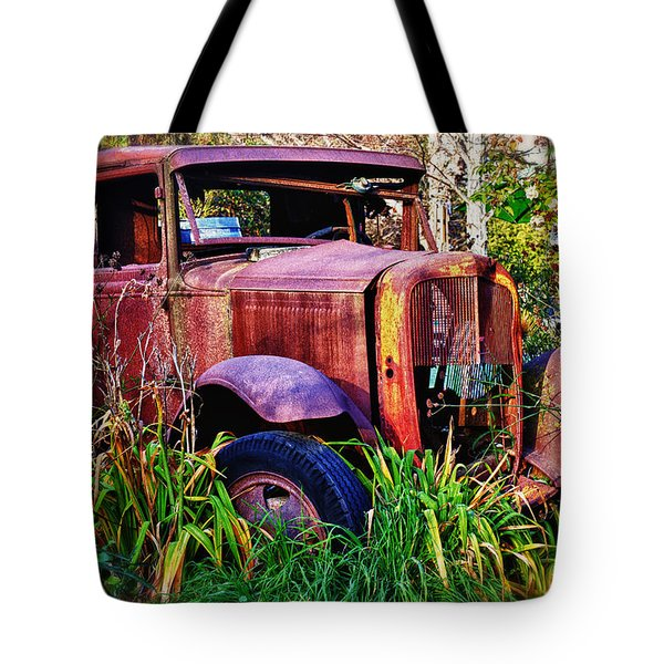Old Rusting Truck Tote Bag by Garry Gay