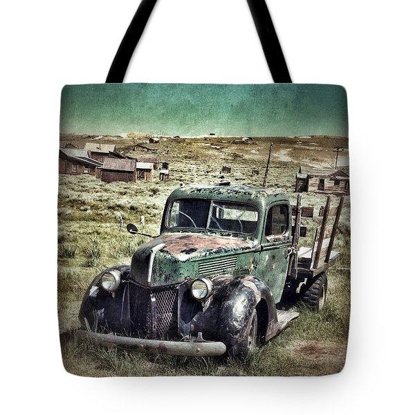 Old Rusty Truck Tote Bag by Jill Battaglia