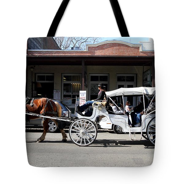 Old Sacramento California . Horse Drawn Buggy . 7D11482 Tote Bag by Wingsdomain Art and Photography