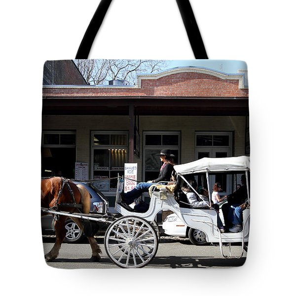 Old Sacramento California . Horse Drawn Buggy . Long Cut . 7D11482 Tote Bag by Wingsdomain Art and Photography