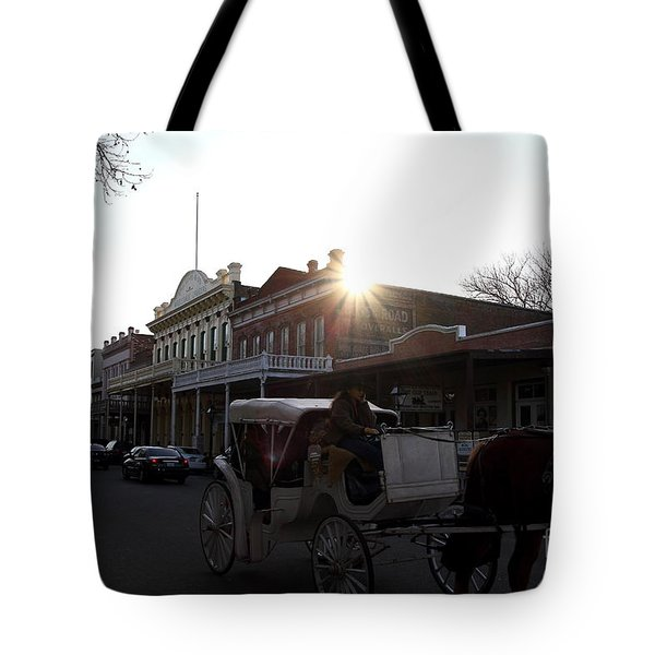 Old Sacramento California In Partial Silhouette . 7D11719 Tote Bag by Wingsdomain Art and Photography