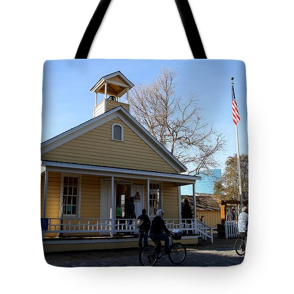 Old Sacramento California . Schoolhouse Museum . 7D11578 Tote Bag by Wingsdomain Art and Photography