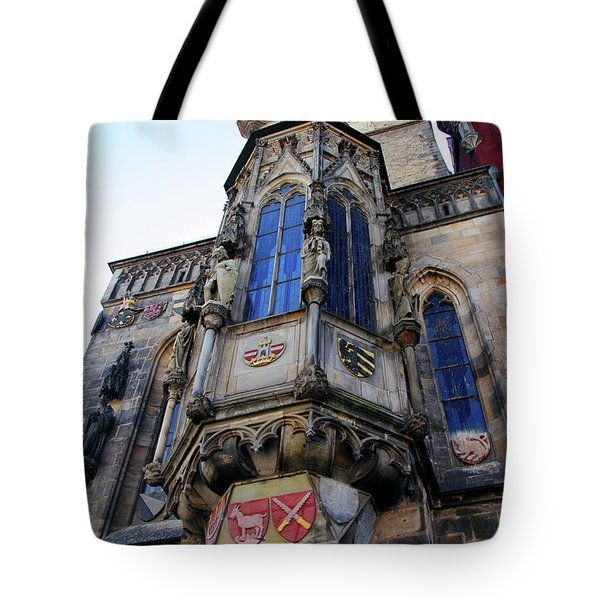 Old Town City Hall Tote Bag by Mariola Bitner