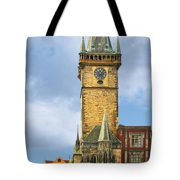 Old Town Hall Prague CZ Tote Bag by Christine Till