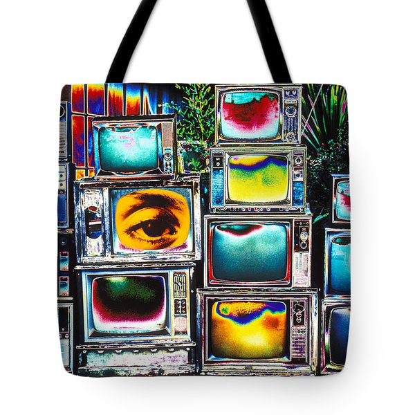 Old TV's Abstract Tote Bag by Garry Gay