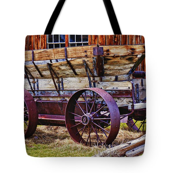 Old Wagon Bodie Ghost Town Tote Bag by Garry Gay