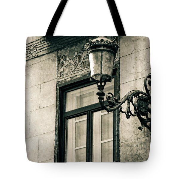 Old Window Lamp Tote Bag by Syed Aqueel