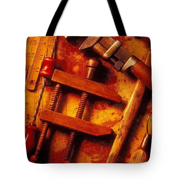 Old Worn Tools Tote Bag by Garry Gay