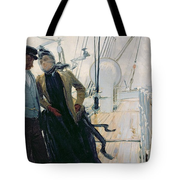 On Deck Tote Bag by Louis Anet Sabatier