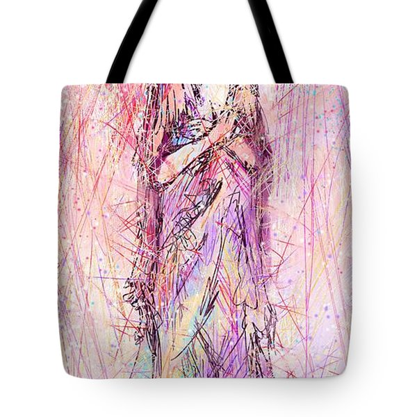 On My Toes Tote Bag by Rachel Christine Nowicki