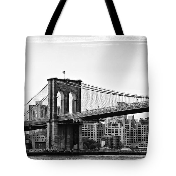 On the Brooklyn Side Tote Bag by Bill Cannon