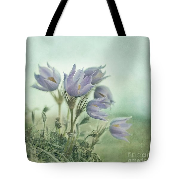 On The Crocus Bluff Tote Bag by Priska Wettstein